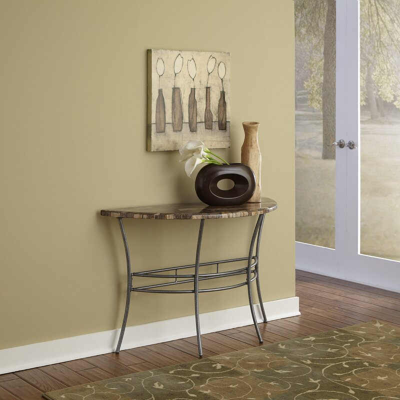 Perfect Turn To Stone Console Table