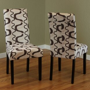 Swarthout Upholstered Dining Chair (Set of 2) by Latitude Run