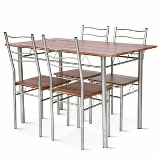 Casiano 5 Piece Dining Set Winston Porter