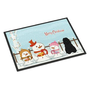 Merry Christmas Carolers Bouvier Des Flandres Doormat