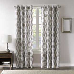 Hedge Ikat Max Blackout Grommet Single Curtain Panel by George Oliver