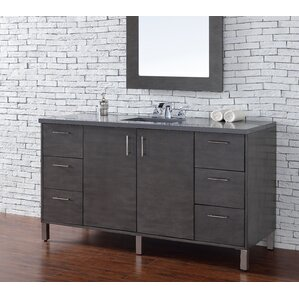 Bathroom Vanity Quartz Top mirrored single vanities you'll love   wayfair