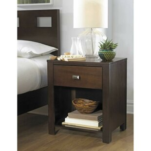 Crawley Wooden 1 Drawer Nightstand by Winston Porter