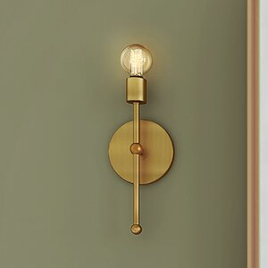 Bautista 1-Light Glam Steel Wallchiere