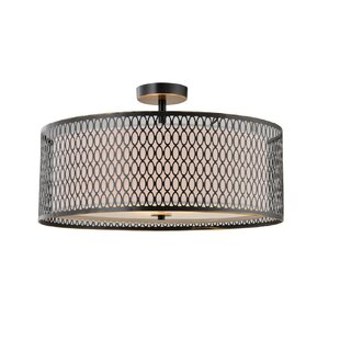 Ferrigno 3-Light LED Semi Flush Mount by Brayden Studio