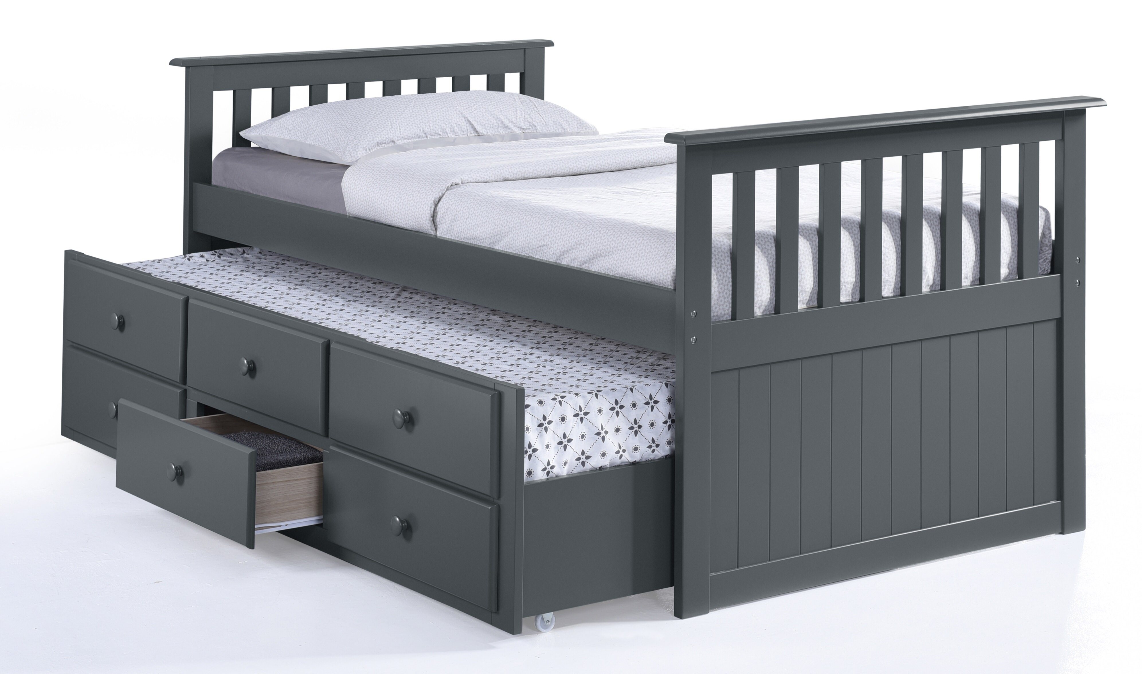 ip beds en shore trundle cherry bed on mobby canada casters south twin walmart