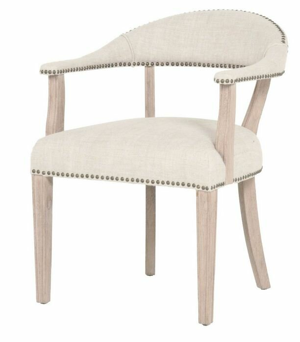 Ansel Arm Chair in Bisque French Linen.