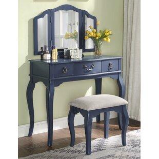 Alcott Hill Yesenia Vanity Set with Mirror