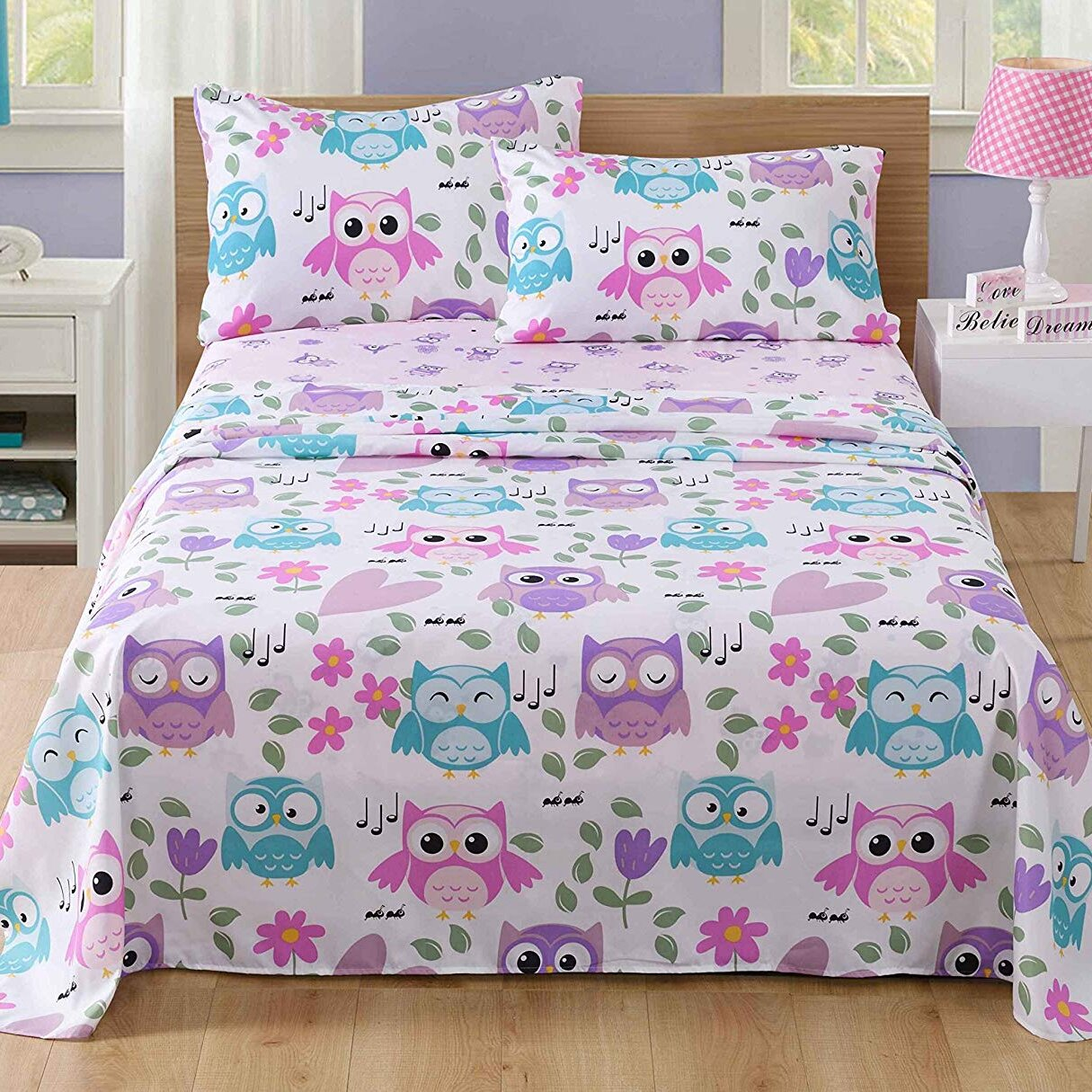 LCGGDB 3D Childrens Cartoon Customied Fitted Sheet,Five Nights at Freddys Soft Decorative Fabric Bedding Stain Resistant Deep Pocket Bed Sheet,Twin XL Size Sheet Kids Bedding Decor