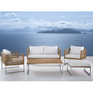 Orren Ellis Marone Patio 5 Piece Conversation Set with Cushions