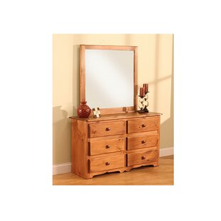 Cambridge 6 Drawer Double Dresser with Mirror by Chelsea Home Furniture