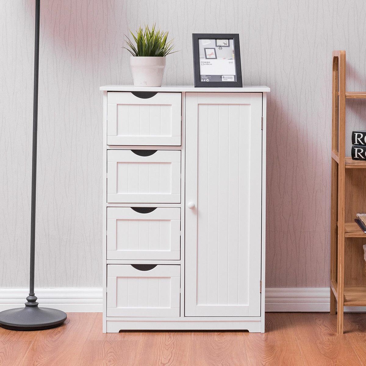 Furniture Home Garden Bathroom Floor Cabinet Wooden W 1