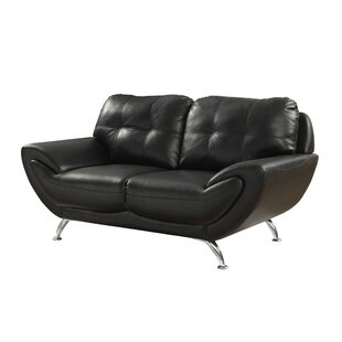 Diez Contemporary Loveseat by Wrought Studio