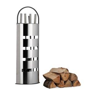 Milan 5 Piece Steel Fireplace Tool Set By Metro Lane