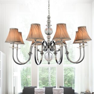 Curves 9-Light Shaded Chandelier by CWI Lighting