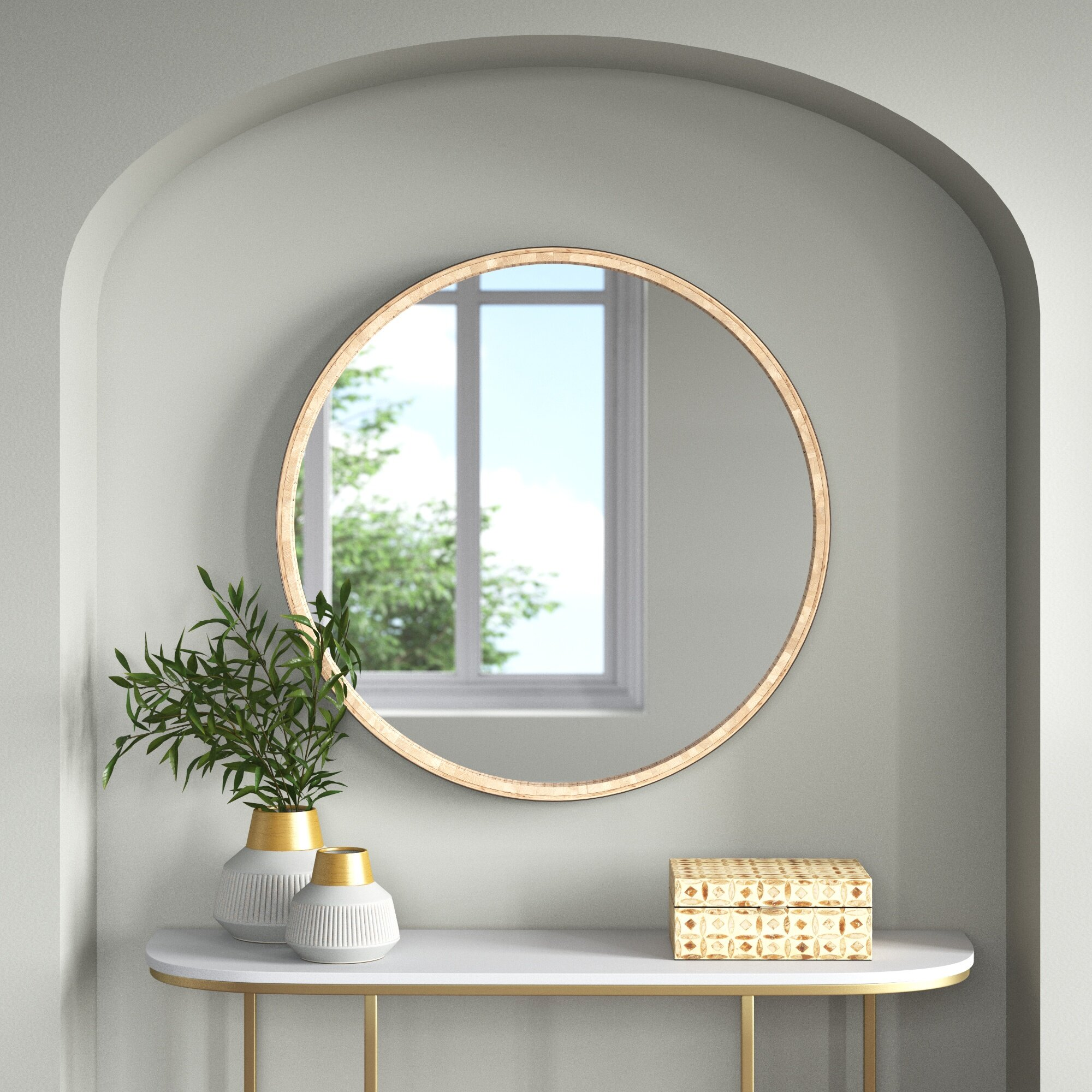 Bodie Beveled Accent Mirror Reviews Joss Main