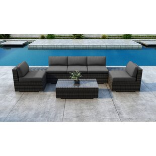 Gilleland 8 Piece Sectional Set with Sunbrella Cushion