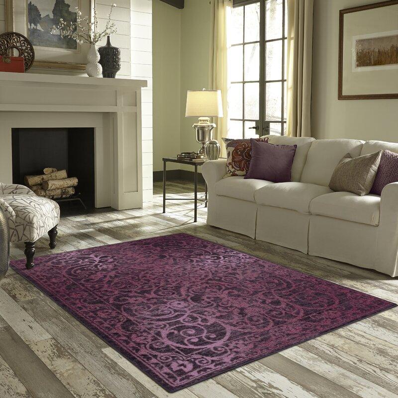 Living Room Rug Charlton Home Landen Purple Area Rug & Reviews  Wayfair