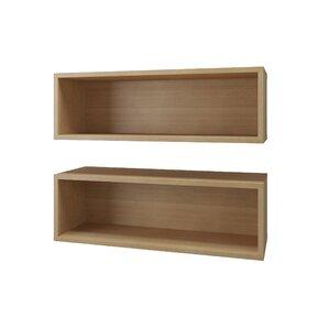 Rectangle 2 Piece Wall Accent Shelf Set