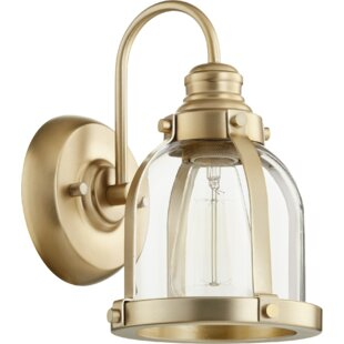 Breakwater Bay Douglas Forge Banded Dome 1-Light Armed Sconce
