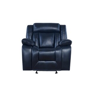 Melvous Extra Plush Manual Glider Recliner Red Barrel Studio