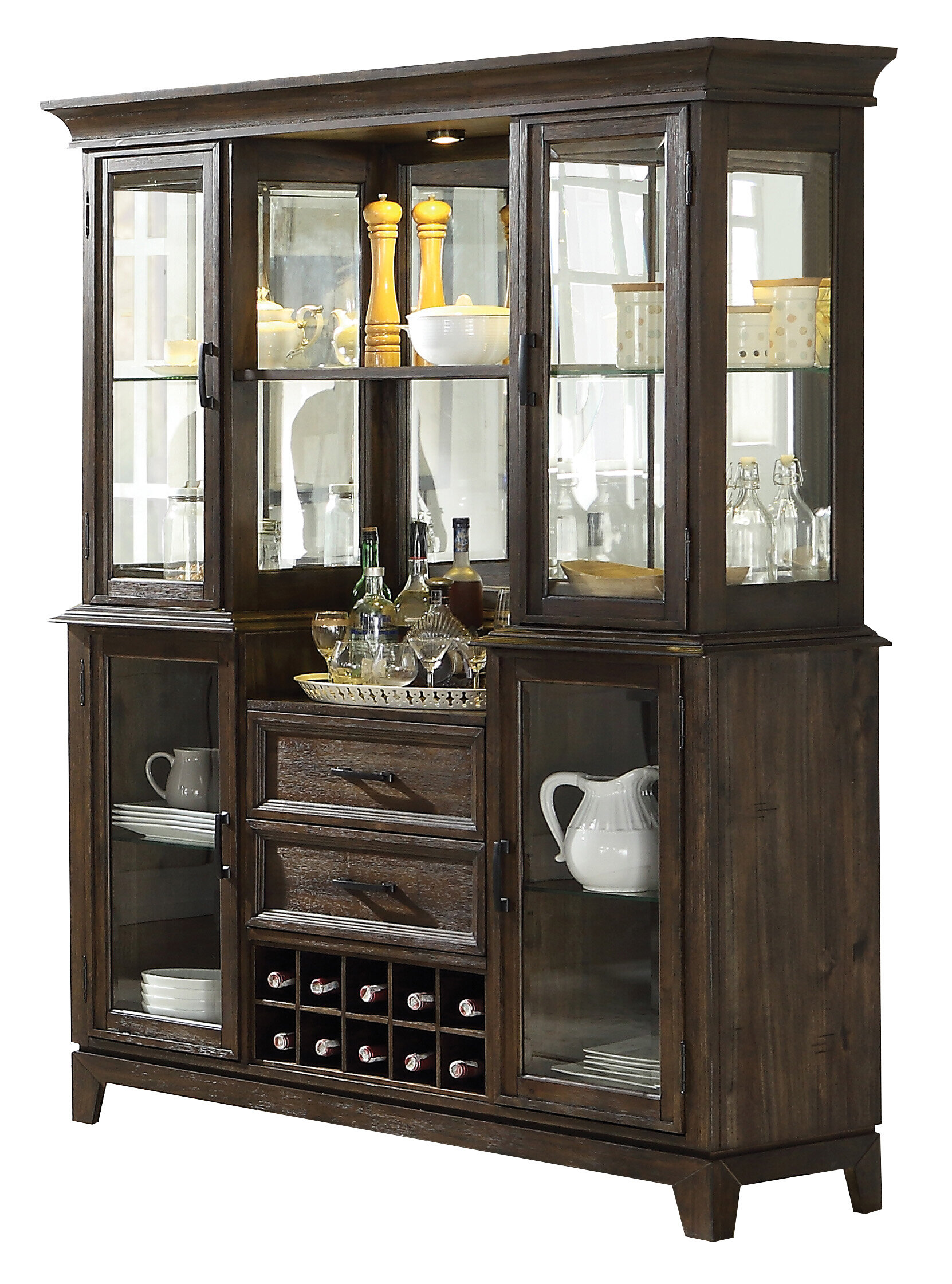 1 Shelf Dining Hutch Display China Cabinets You Ll Love In 2021 Wayfair