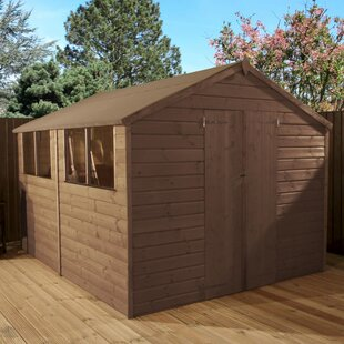 8 Ft. W X 10 Ft. D Shiplap Apex Wooden Shed By WFX Utility