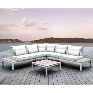Solis Patio Pulito 4 Piece Sectional Set with Cushions