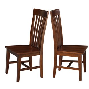 Aziz Solid Wood Dining Chair (Set of 2) Red Barrel Studio