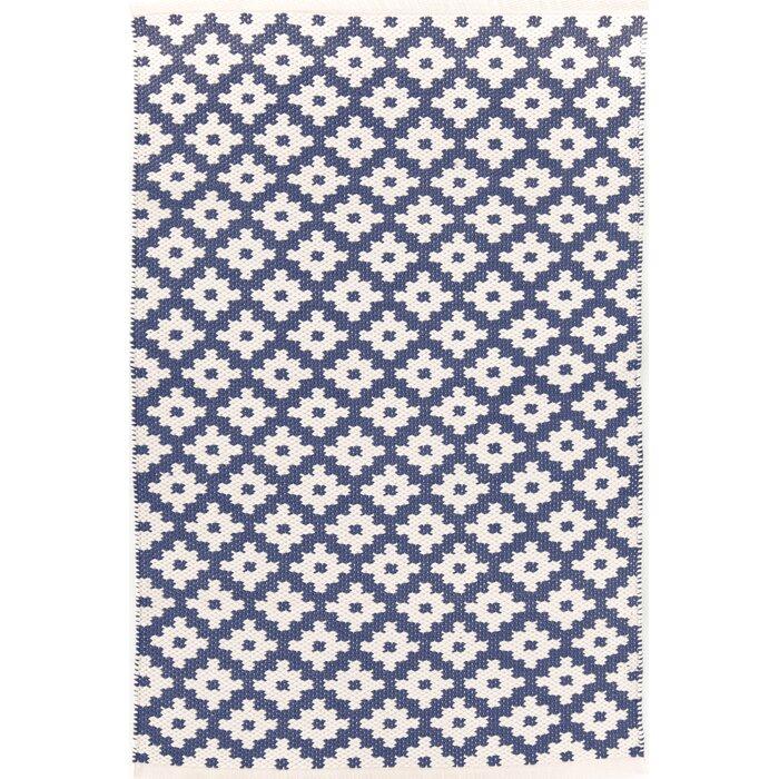 Dash And Albert Rugs Samode Hand Woven Bluewhite Indooroutdoor