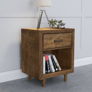 Glasser Retro Wood 1 Drawer Nightstand by George Oliver