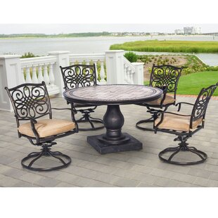Carlee 5 Piece Dining Set with Cushion