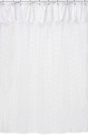 terry cloth shower curtain. Eyelet Cotton Shower Curtain Sweet Jojo Designs  Reviews Wayfair