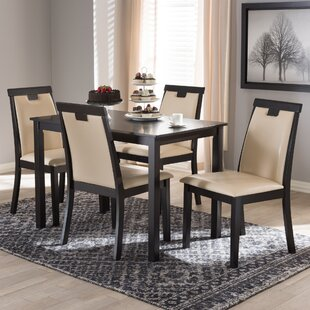 Opalstone Modern and Contemporary 5 Piece Dining Set by Orren Ellis