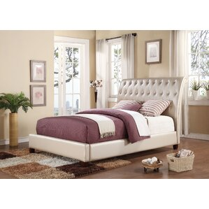 Pitney Upholstery Sleigh Bed by ACME Furniture