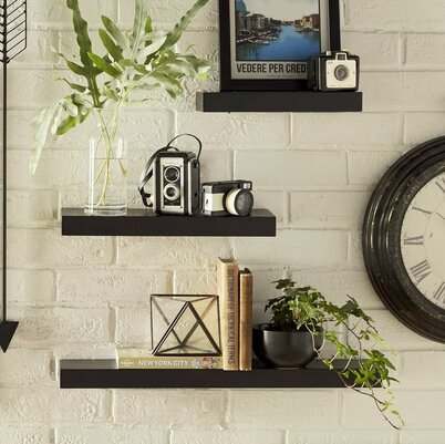 Hallway Triangle Wall Display Shelves