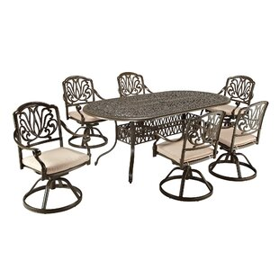 One Allium Way Artie 7 Piece Dining Set with Cushions
