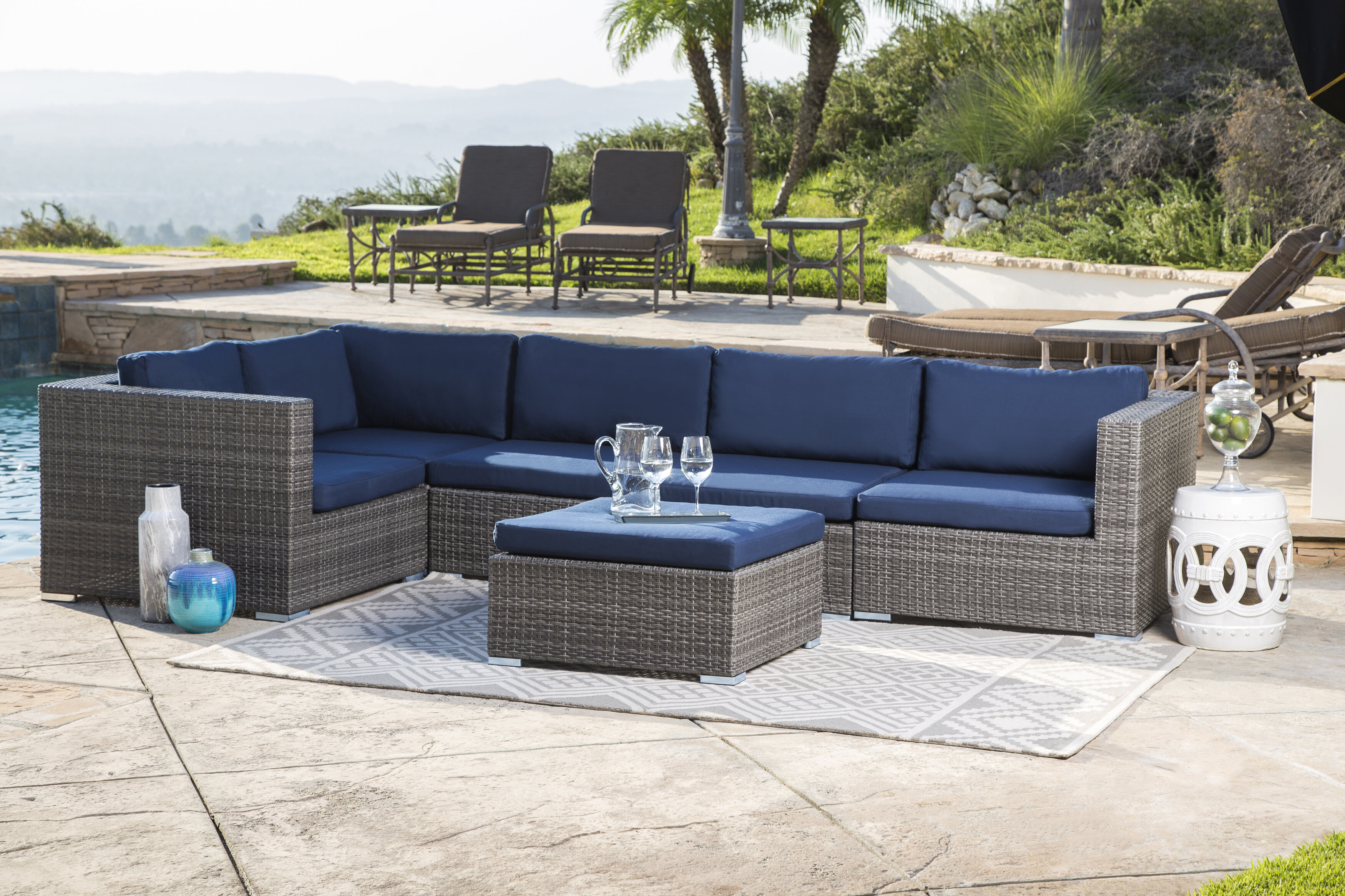 Bungalow Rose Ostrowski Patio Sectional