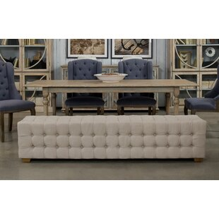 Long Tufted Upholstered Bench by Sarreid Ltd Amazing