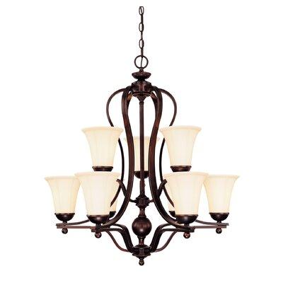 Trottier 9 light shaded chandelier