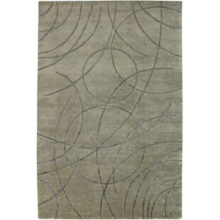 Ajmer Hand-Knotted Gray Area Rug By Meridian Rugmakers