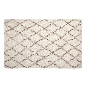 Louisville Moroccan Hand-Woven White/Gold Area Rug