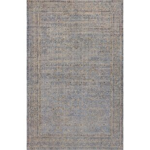 One-of-a-Kind Antique Kerman Handwoven Wool Beige/Blue Indoor Area Rug By Mansour