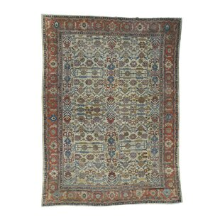 One-of-a-Kind Sultanabad Even Wear Hand-Knotted 11' x 14'8 Wool Ivory/Green Area Rug By 1800GETARUG