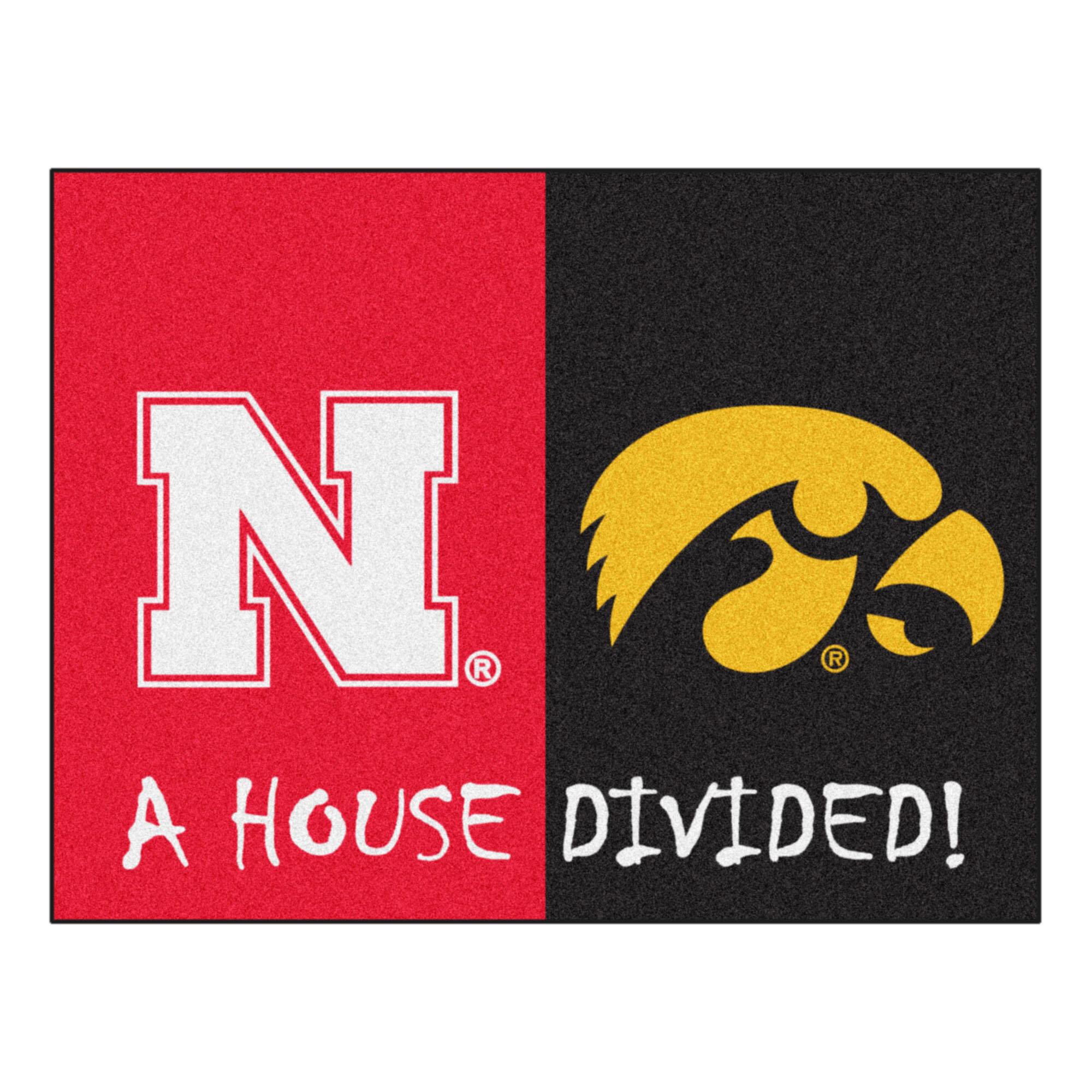 Black Small NCAA Florida//LSU House Divided Mat