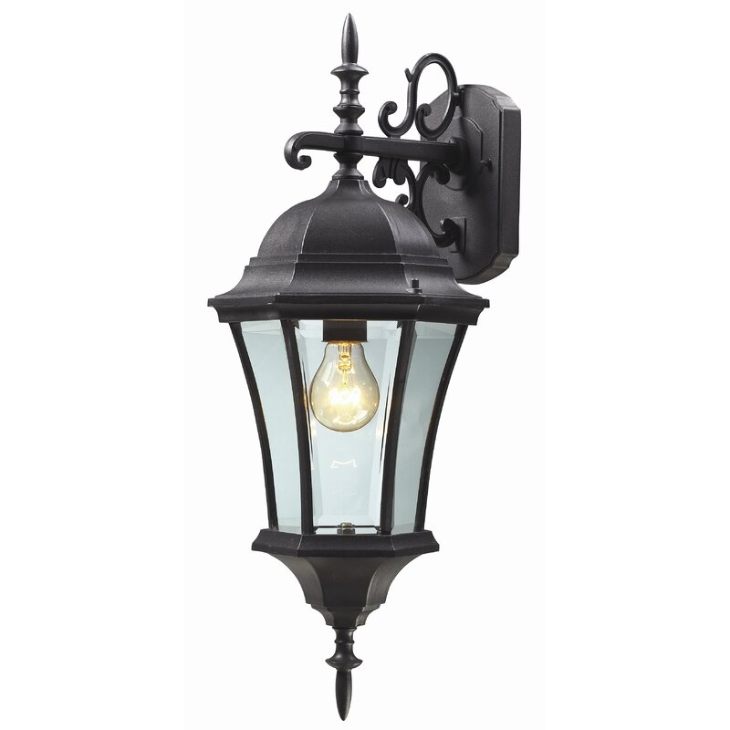 Astoria Grand Lyles 1 Light Outdoor Wall Lantern Reviews Wayfair