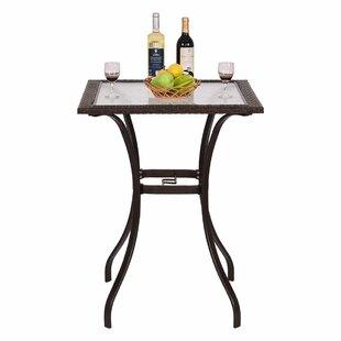 Carly Patio Steel/Rattan Bar Table by Winston Porter Savings