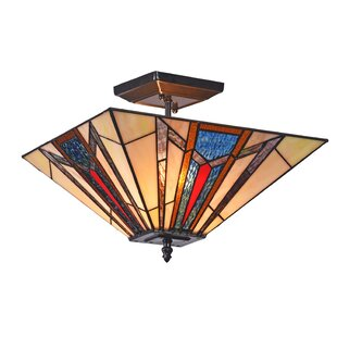 Harlow Mission 2-Light Semi Flush Mount by Millwood Pines