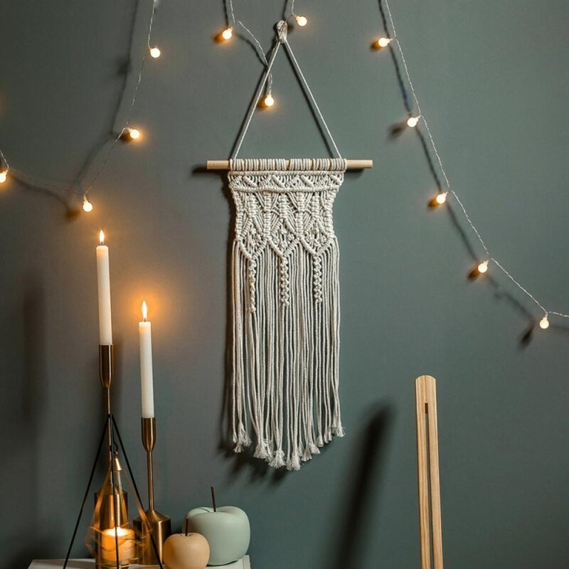 Tassel Hanging Woven Macrame Wall Hanging Tapestry Wedding Wall Decoration