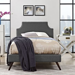 Ebony Upholstered Platform Bed
